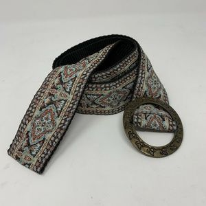 Derin Turkish tapestry woven floral belt womens si